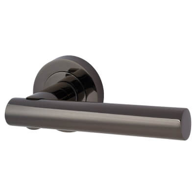 Touchpoint Bella Lever Door Handle on Rose - Black Nickel