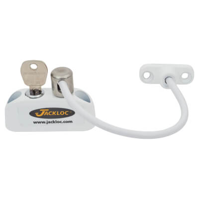 Jackloc Cable Window Restrictor - White)