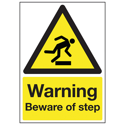 Warning Beware Of The Step - 210 x 148mm