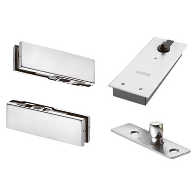 Floor Spring Door Kit for a Single Glass Door - Hold Open