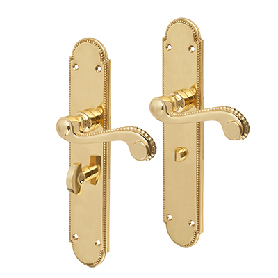 Carlisle Brass Chesham Georgian Door Handle - Bathroom Set - Polished Brass