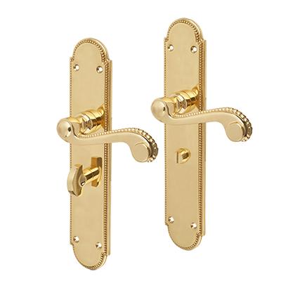 Carlisle Brass Chesham Georgian Door Handle - Bathroom Set - Polished Brass