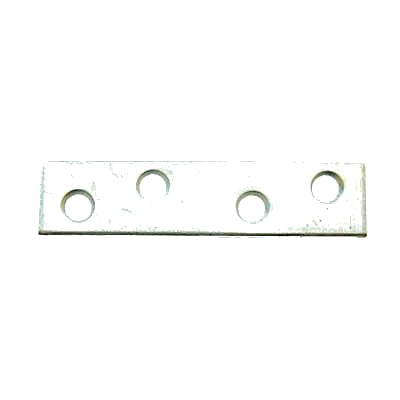 Flat Mending Plate - 125mm - Bright Zinc Plated - Pack 10