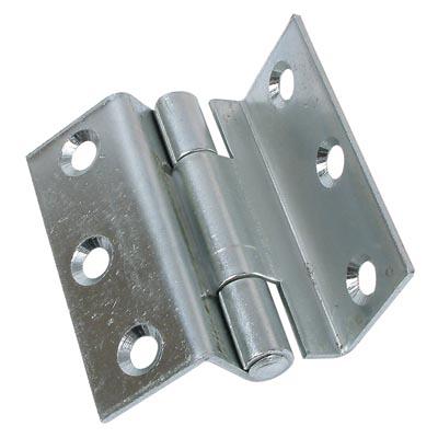 Storm Proof Casement Hinge - 63mm - Bright Zinc Plated - Pair