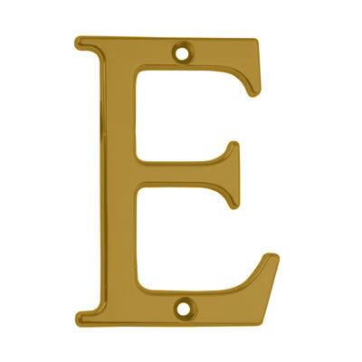76mm Letter - E - Gold