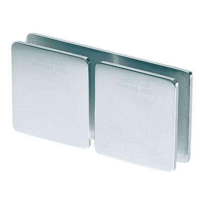 Glass to Glass Clamp - 180° - 8-12mm Glass - Polished Chrome