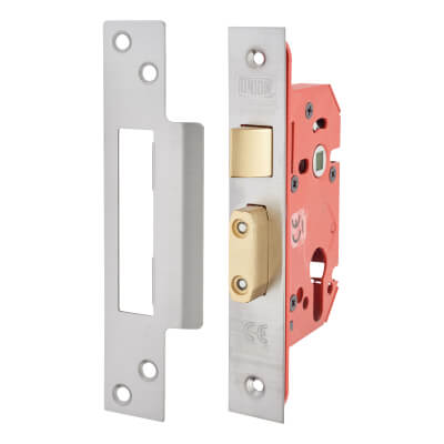 UNION® 22EUS StrongBOLT Euro Profile Sashlock - 81mm Case - 57mm Backset - Stainless Steel)
