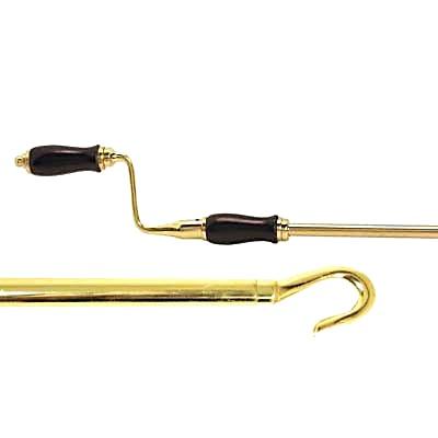 Skylight Opener Handle - 1520mm - Polished Brass