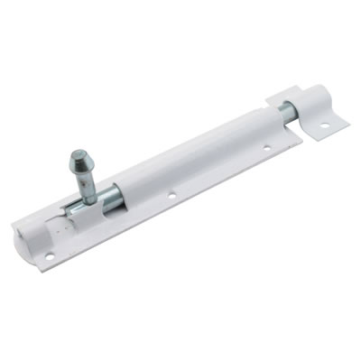 Tower Bolt - 150mm - White
