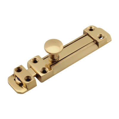 Flat Section Bolt - 115 x 25mm - Polished Brass