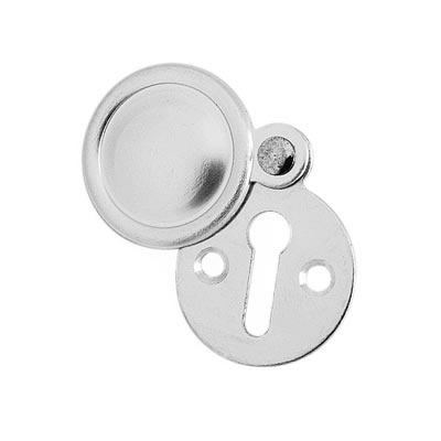 Victorian Covered Escutcheon - Keyhole - Satin Aluminium