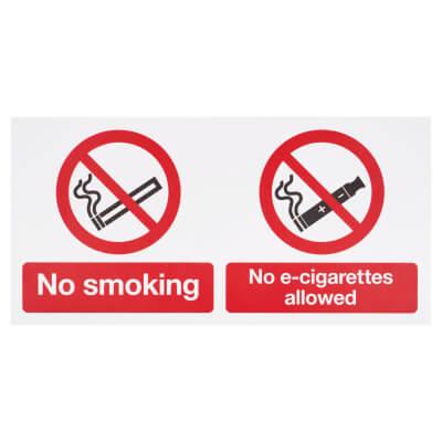 No smoking, No E-Cigarettes Allowed - 150 x 300mm)