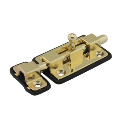 Straight Barrel Bolt - 70 x 35mm - Polished Brass