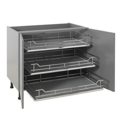 25kg Single Soft Close Pull Out Organiser - Cabinet Width 800mm
