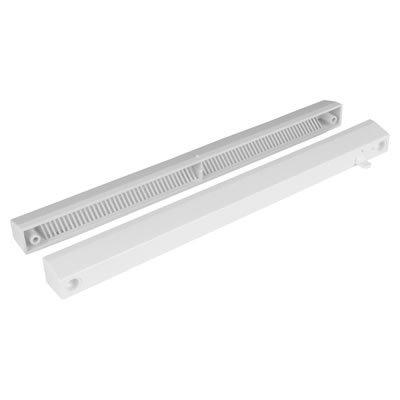 Slotvent 3000 S With Front Operation Switch - Brilliant White - uPVC / Timber )