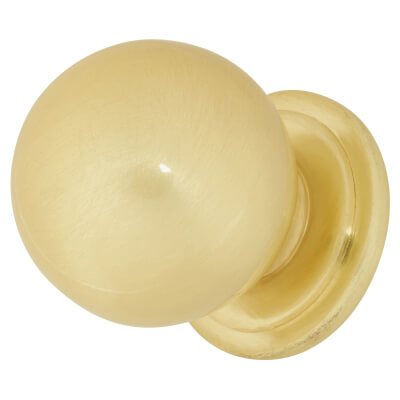 Touchpoint Ball Cabinet Knob - 30mm - Satin Brass