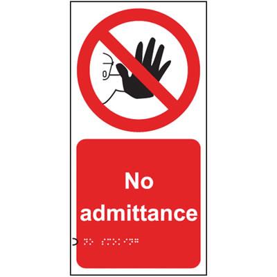 No Admittance Sign - Braille