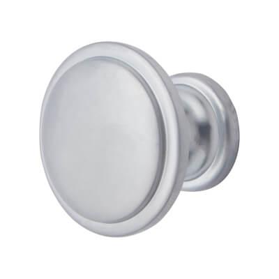 Elan Disc Cabinet Knob - 30mm Diameter - Matt Chrome