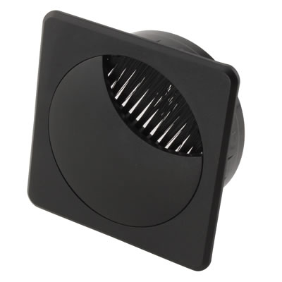 ION Square Cable Tidy - 60mm - Black - Pack 10)