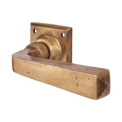 Louis Fraser Lever Door Handle on Rose - Oil Rubbed Bronze)