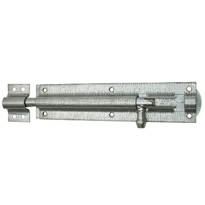 Traditional Tower Bolt - Straight - 250mm - Galvanised
