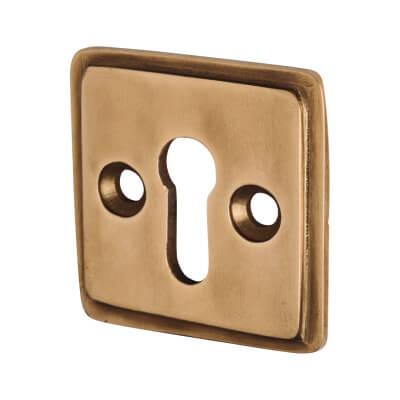 Louis Fraser Escutcheon - Keyhole - Light Bronze