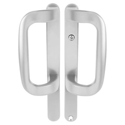 Trojan Patio Dummy Handle - uPVC/Timber - Silver