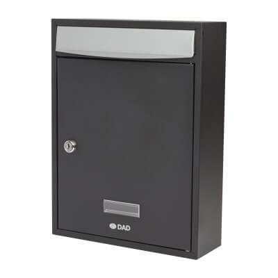 DAD Bologne Mailbox - 340 x 260 x 85mm - Black)