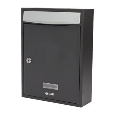 DAD Bologne Mailbox - 340 x 260 x 85mm - Black)