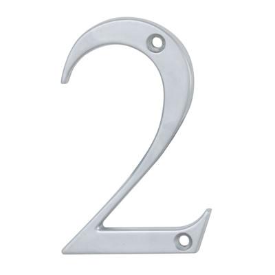 76mm Numeral - 2 - Satin Chrome