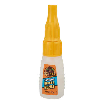 Gorilla Brush and Nozzle Super Glue - 12ml)