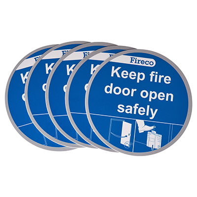 Dorgard Fire Door Stickers - Pack 5)