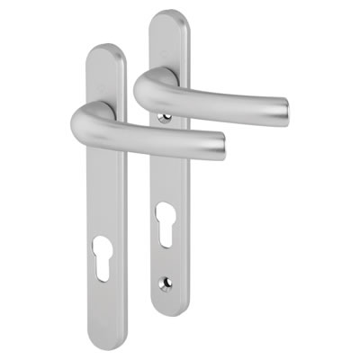 Hoppe Tokyo Multipoint Handle - uPVC/Timber - 92mm centres - 60-70mm door thickness - Silver)