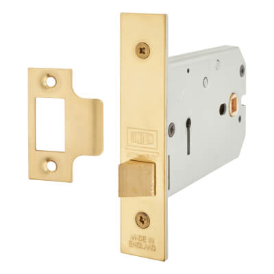UNION® 26773 Horizontal Latch - 124mm Case - 38-101.5mm Backset - Polished Brass