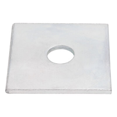 Square Plate Washer - 12 x 50mm - Zinc Plated - Pack 8)
