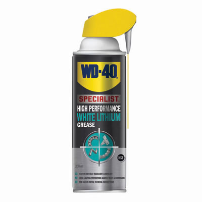 WD40 High Performance White Lithium Grease - 250ml)