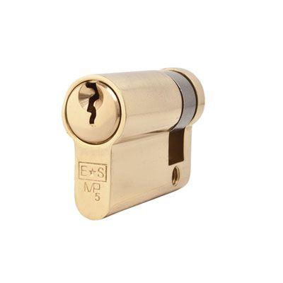 Eurospec MP5 - Euro Single - 35 + 10mm - Polished Brass  - Master Keyed