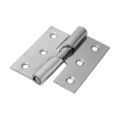 Rising Butt Hinge - 75 x 70 x 2.5mm - Left Hand - Zinc Plated - Pair