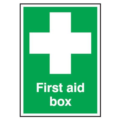 First Aid Box - 210 x 148mm - Rigid Plastic)