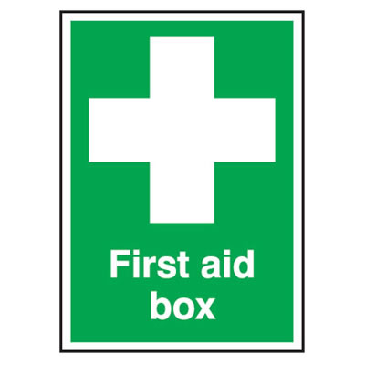 First Aid Box - 210 x 148mm - Rigid Plastic)