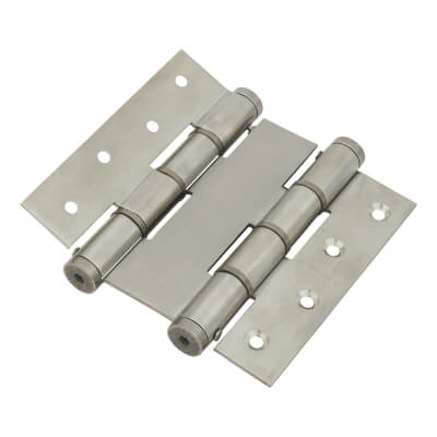 Architectural Double Action Spring Hinge - 120mm - Satin Stainless Steel