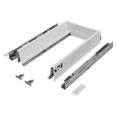 Blum TANDEMBOX ANTARO Drawer Pack - BLUMOTION Soft Close - (H) 84mm x (D) 450mm x (W) 400mm - White