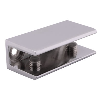 Shelf Support Bracket - 8-12mm Shelf Thickness - Polished Chrome - Pack 4)