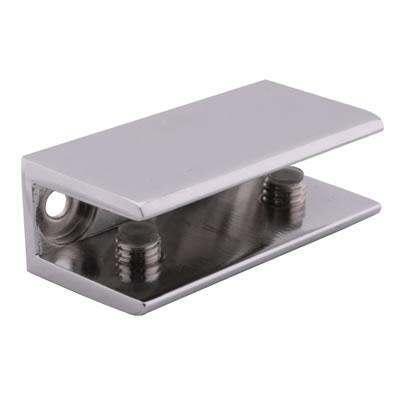 Shelf Support Bracket - 8-12mm Shelf Thickness - Polished Chrome - Pack 4