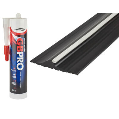 Stormguard Garage Door Threshold - 2515mm - Black)