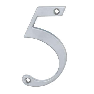 76mm Numeral - 5 - Satin Chrome
