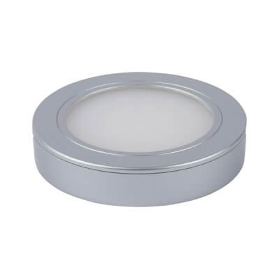 Leyton LED Under Cabinet Downlight - 65 x 12mm - Satin Silver)