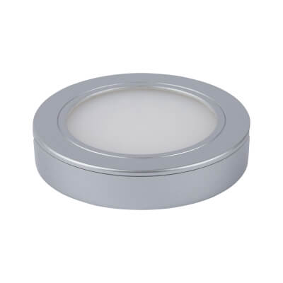 Leyton LED Under Cabinet Downlight - 65 x 12mm - Satin Silver)