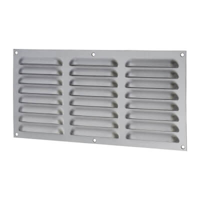 Hooded Louvre Vent - 305 x 152mm - 9975mm2 Free Air Flow - Satin Stainless)