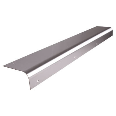 Altro Round Nose Door Step - 825mm - Stainless Steel